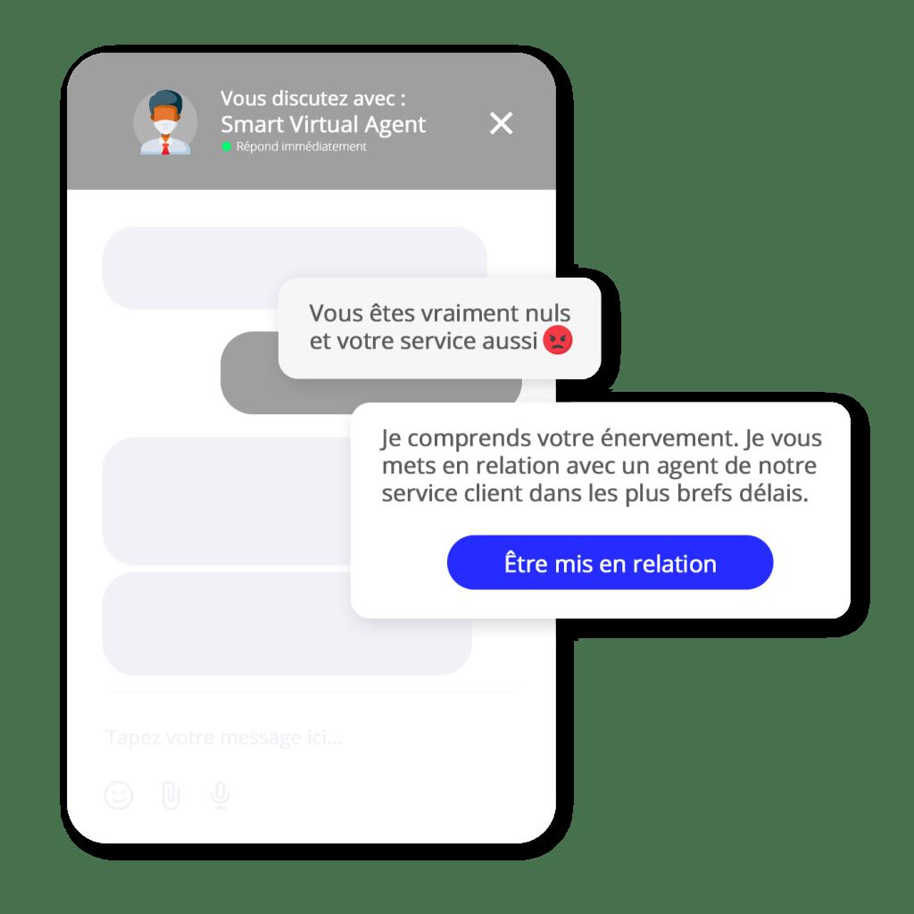 escalade emotionnelle chatbot