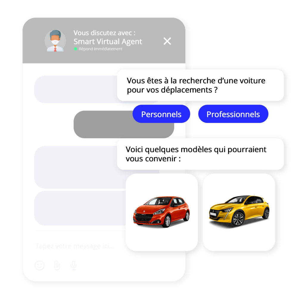 illustration chatbot lead agent virtuel