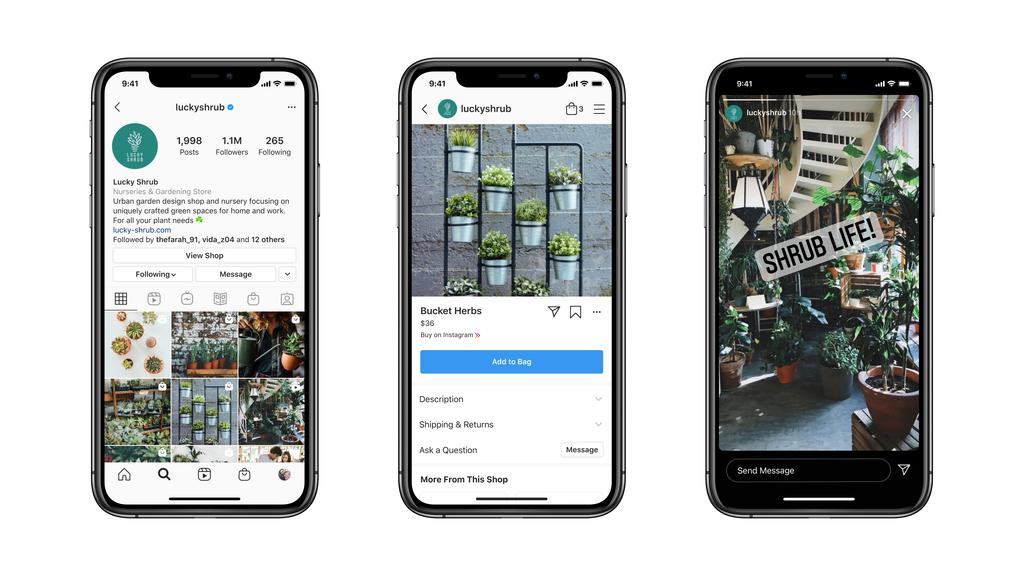 Exemple d'une conversation entre un chatbot Instagram et un client potentiel
