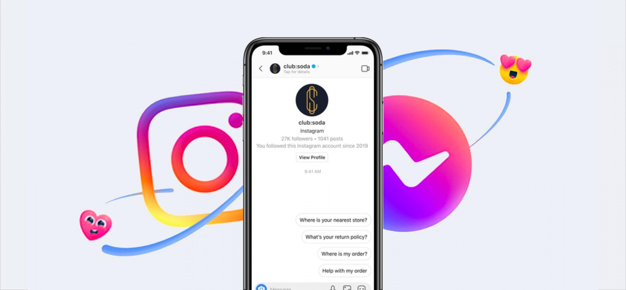 La fusion des APIs Messenger et Instagram vont permettre le déploiement de nouveaux services, dont un service client plus réactif.