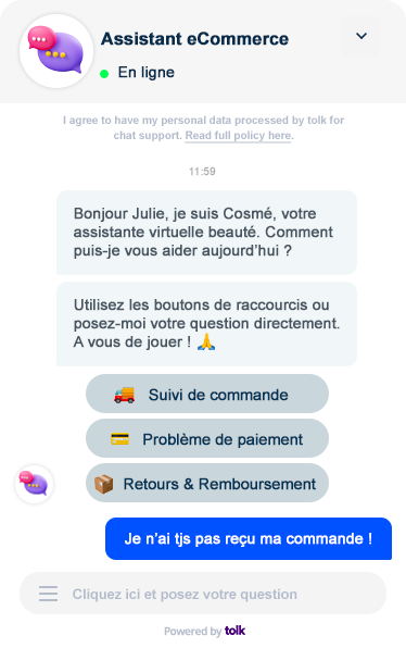 Chatbot shopify assistant ecommerce